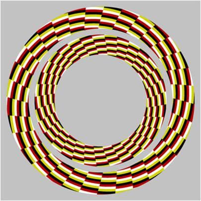 Fija la vista en la imagen y parece que los círculos se mueven...