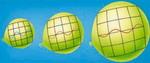 Modelo del globo de la expansión del Universo. Clic para ampliar