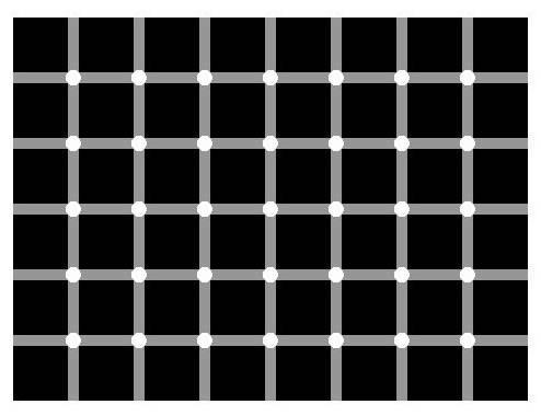 Los puntos de las intersecciones, ¿son gris o blancos?
