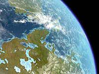 Planeta Venus terraformado. Clic para ampliar